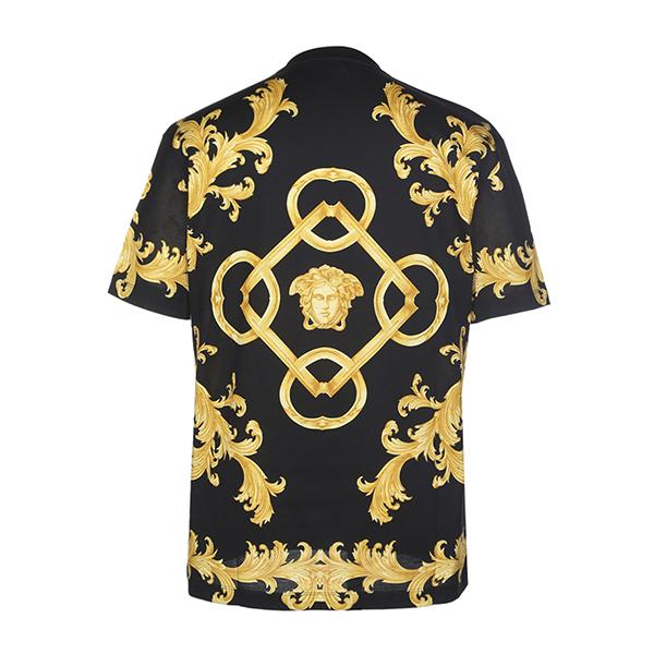 花纹与logo图案印花饰,圆领短袖款式 价格 500-2000 开合方式 男士